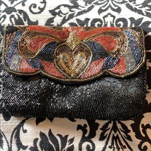 Vintage La Regale LTD 1970's beaded clutch
